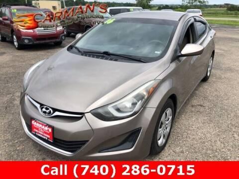 2016 Hyundai Elantra for sale at Carmans Used Cars & Trucks in Jackson OH