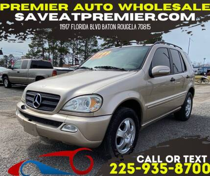 2004 Mercedes-Benz M-Class for sale at Premier Auto Wholesale in Baton Rouge LA