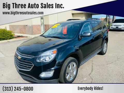 2016 Chevrolet Equinox for sale at Big Three Auto Sales Inc. in Detroit MI