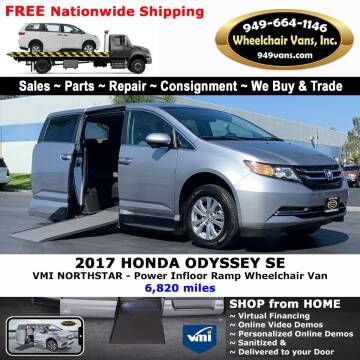 2017 Honda Odyssey for sale at Wheelchair Vans Inc - New and Used in Laguna Hills CA