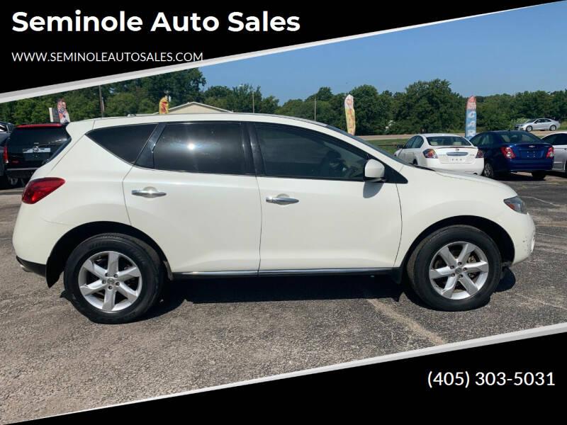 2010 Nissan Murano for sale at Seminole Auto Sales in Seminole OK
