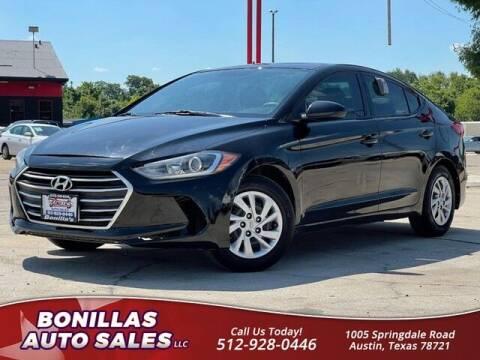 2018 Hyundai Elantra for sale at Bonillas Auto Sales in Austin TX