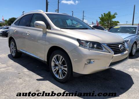 2013 Lexus RX 350 for sale at AUTO CLUB OF MIAMI, INC in Miami FL