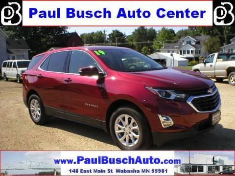 2019 Chevrolet Equinox for sale at Paul Busch Auto Center Inc in Wabasha MN