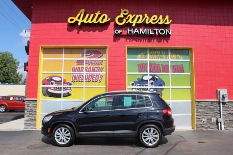 2011 Volkswagen Tiguan for sale at AUTO EXPRESS OF HAMILTON LLC in Hamilton OH