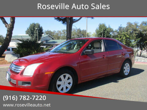 2007 Ford Fusion for sale at Roseville Auto Sales in Roseville CA
