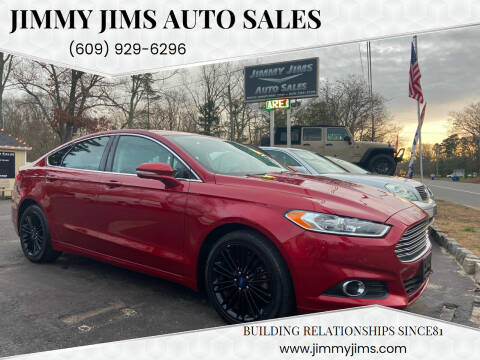 2016 Ford Fusion for sale at Jimmy Jims Auto Sales in Tabernacle NJ