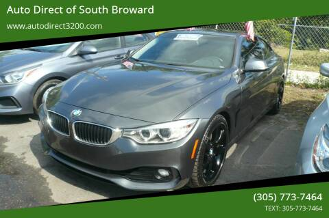 2014 BMW 4 Series for sale at Auto Direct of South Broward in Miramar FL