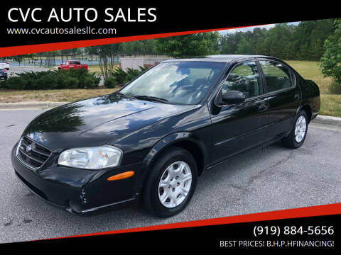 2000 Nissan Maxima for sale at CVC AUTO SALES in Durham NC