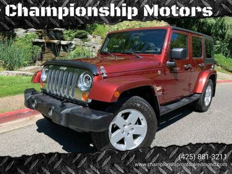 2007 Jeep Wrangler Unlimited for sale at Mudarri Motorsports - Championship Motors in Redmond WA