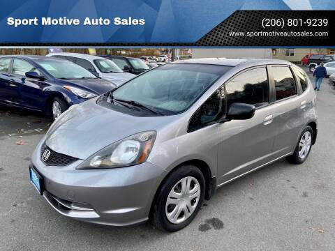 2010 Honda Fit for sale at Sport Motive Auto Sales in Seattle WA