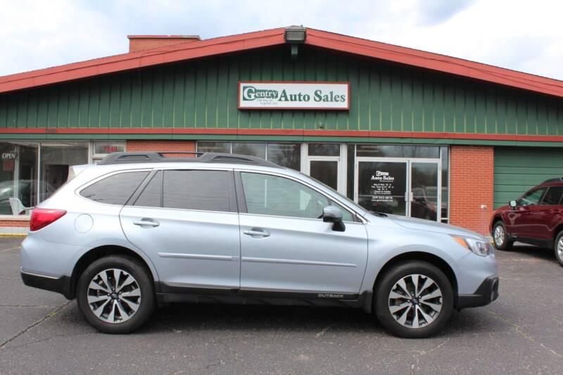 2016 Subaru Outback for sale at Gentry Auto Sales in Portage MI