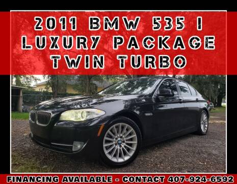 2011 BMW 5 Series for sale at AFFORDABLE ONE LLC in Orlando FL