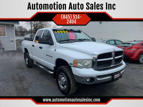 2004 Dodge Ram Pickup 2500 for sale at Automotion Auto Sales Inc in Kingston NY