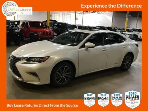 2018 Lexus ES 300h for sale at Dallas Auto Finance in Dallas TX