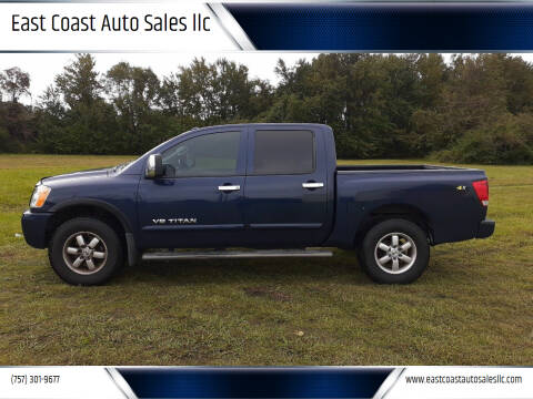 2012 Nissan Titan for sale at East Coast Auto Sales llc in Virginia Beach VA