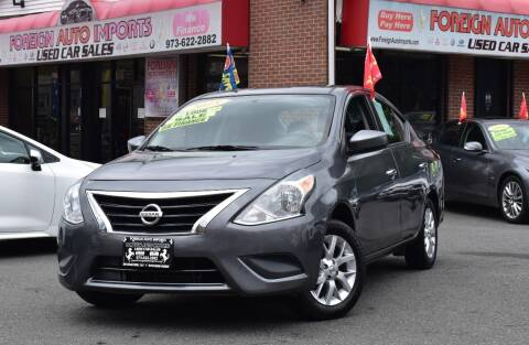 2018 Nissan Versa for sale at Foreign Auto Imports in Irvington NJ