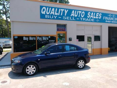 2008 Mazda MAZDA3 for sale at QUALITY AUTO SALES OF FLORIDA in New Port Richey FL