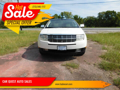 2007 Lincoln MKX for sale at CAR QUEST AUTO SALES in Houston TX