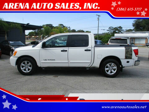 2008 Nissan Titan for sale at ARENA AUTO SALES,  INC. in Holly Hill FL