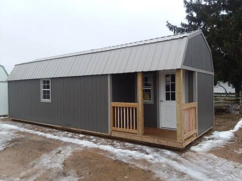 2019 Premier Portable Buildings 12x32 Side Lofted B Cabin SOLD for sale at Dave's Auto Sales & Service - Premier Buildings in Weyauwega WI