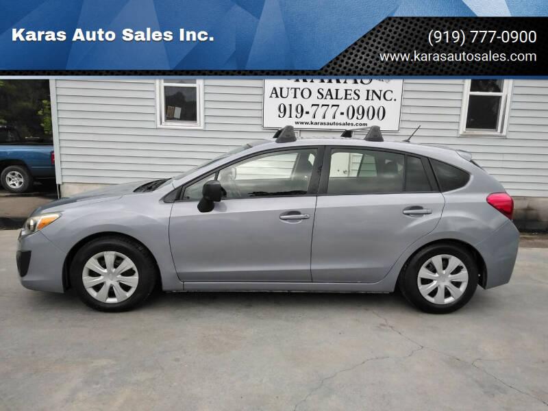 2014 Subaru Impreza for sale at Karas Auto Sales Inc. in Sanford NC