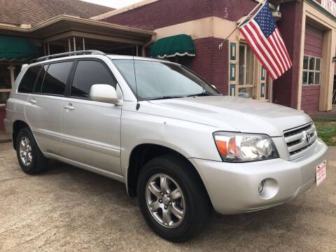 2007 Toyota Highlander for sale at Firestation Auto Center in Tyler TX