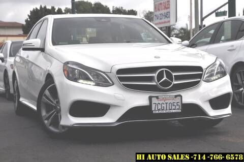 2014 Mercedes-Benz E-Class for sale at Hi Auto Sales in Westminster CA
