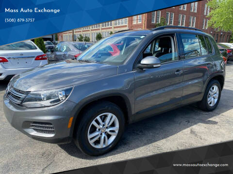 2016 Volkswagen Tiguan for sale at Mass Auto Exchange in Framingham MA