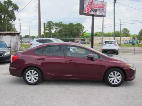 2012 Honda Civic for sale at Checkered Flag Auto Sales EAST in Lakeland FL