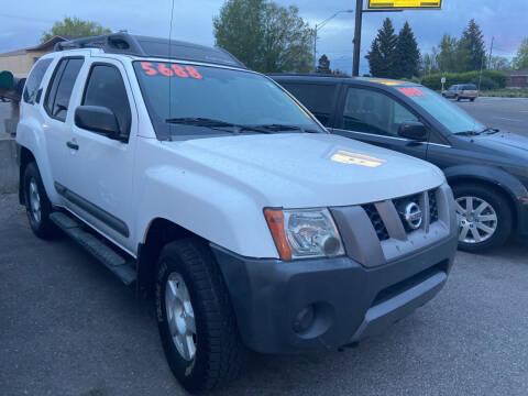 2005 Nissan Xterra for sale at BELOW BOOK AUTO SALES in Idaho Falls ID