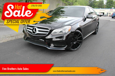 2014 Mercedes-Benz E-Class for sale at Five Brothers Auto Sales in Roswell GA