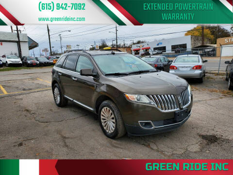 2011 Lincoln MKX for sale at Green Ride Inc in Nashville TN