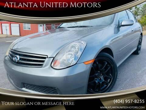 2006 Infiniti G35 for sale at Atlanta United Motors in Buford GA