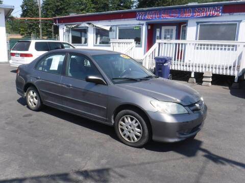 2004 Honda Civic for sale at 777 Auto Sales and Service in Tacoma WA