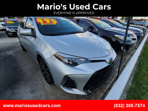 2017 Toyota Corolla for sale at Mario's Used Cars - South Houston Location in South Houston TX
