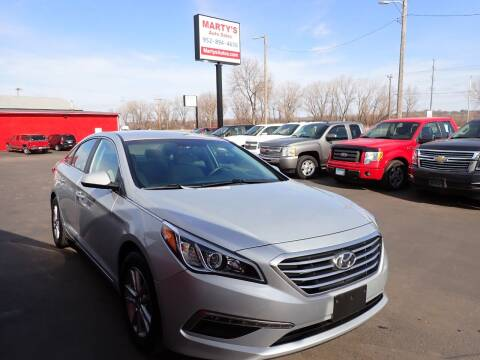 2015 Hyundai Sonata for sale at Marty's Auto Sales in Savage MN