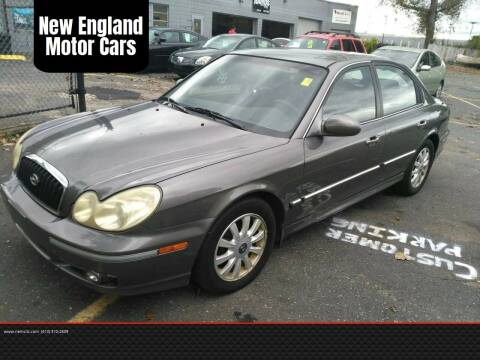 2002 Hyundai Sonata for sale at New England Motor Cars in Springfield MA