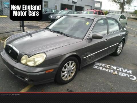 2002 Hyundai Sonata for sale at New England Motor Cars in Springfield MA