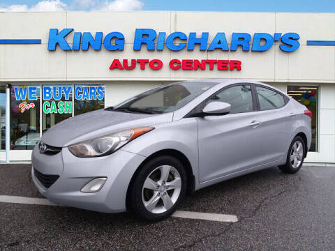 2012 Hyundai Elantra for sale at KING RICHARDS AUTO CENTER in East Providence RI