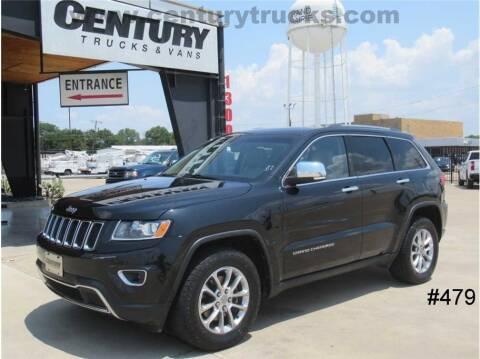 2014 Jeep Grand Cherokee for sale at CENTURY TRUCKS & VANS in Grand Prairie TX
