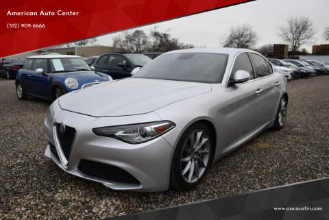 2017 Alfa Romeo Giulia for sale at American Auto Center in Austin TX