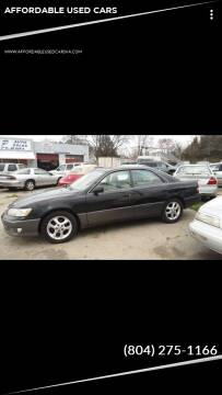 2001 Lexus ES 300 for sale at AFFORDABLE USED CARS in Richmond VA