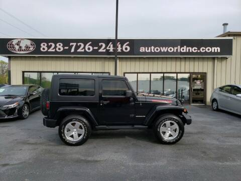 2009 Jeep Wrangler for sale at AutoWorld of Lenoir in Lenoir NC