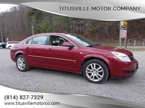 2007 Saturn Aura for sale at Titusville Motor Company in Titusville PA