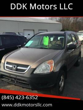 2002 Honda CR-V for sale at DDK Motors LLC in Rock Hill NY