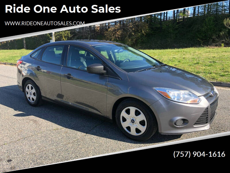 2013 Ford Focus for sale at Ride One Auto Sales in Norfolk VA