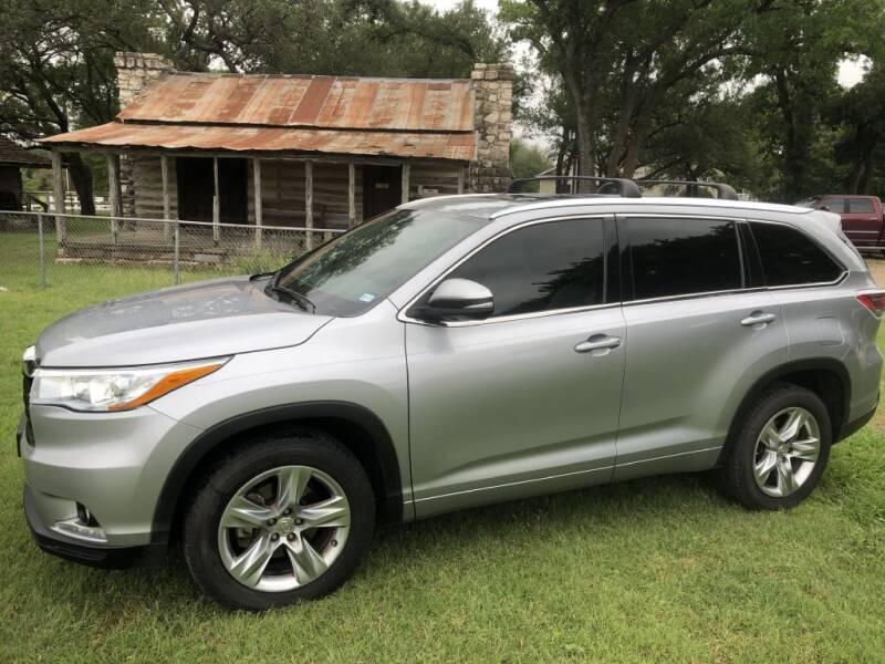 2015 Toyota Highlander for sale at Village Motors Of Salado in Salado TX