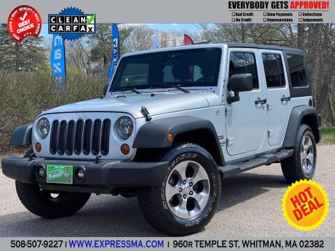 2012 Jeep Wrangler Unlimited for sale at Auto Sales Express in Whitman MA
