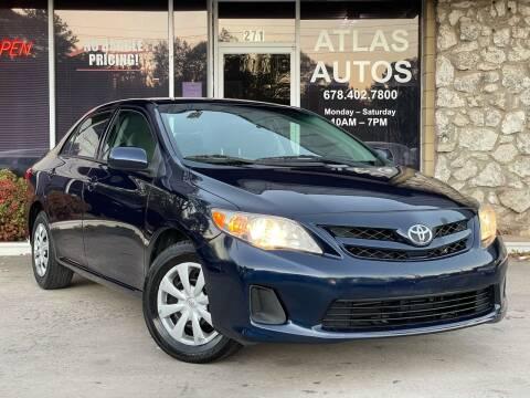 2013 Toyota Corolla for sale at ATLAS AUTOS in Marietta GA